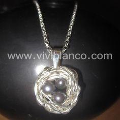 Nido en plata y perlas cultivadas. Curso de Joyería de ViviBlanco