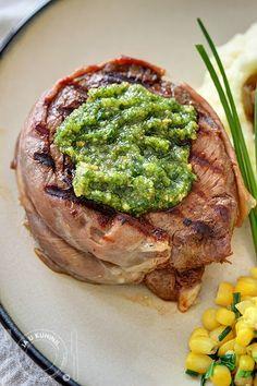 """JA U KUHINJI...: Biftek sa """"pestom"""" od lešnika"""