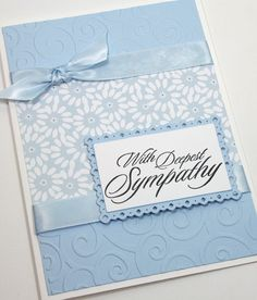 Sympathy Handmade Card / With Deepest Sympathy by CardsbyGayelynn                                                                                                                                                                                 More