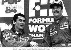 Ayrton Senna and Mansell