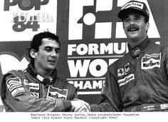 Ayrton Senna and Mansell