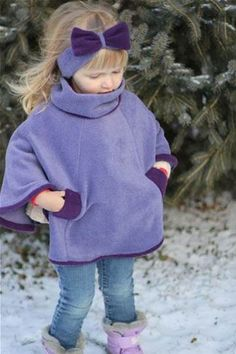 Image result for No Sew Fleece Poncho Pattern