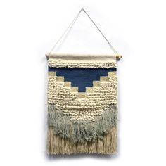 Hanging Fabric, Woven Wall Hanging, Tapestry Weaving, Wall Tapestry, Wild West Clothing, Weaving Loom Diy, Blue Bedding, Macrame Patterns, Fiber Art