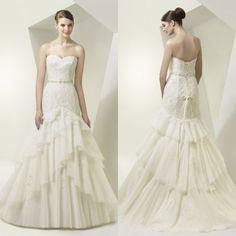 2015 Romantic Pregant Wedding Dresses Appliques Sweetheart Court Train Sleeveless Empire Lace Up Organza  Wedding Dress Cheap