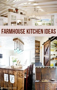 Farmhouse Kitchen Ideas.  Love love love these ideas!