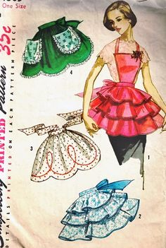 Yessss! Vintage apron patterns!