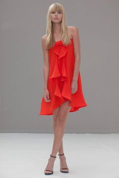Alyssa Short Ruffle Silk Dress