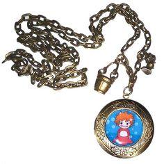 Collar locket Kokeshi Ponyo