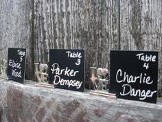 LOVE Wedding Chalkboard Place Cards