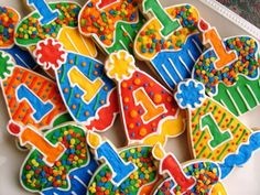 Primary Colored Birthday Cookies