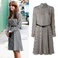 Shop Ralph Lauren Austin Houndstooth Shirtdress as seen on Duchess of Cambridge. Copy Princess Kate's style with the best repliKate dresses for less! Kate Middleton Outfits, Kate Middleton Style, Kate Dress, Dresses For Less, Dress Hats, Princess Kate, Duchess Of Cambridge, Houndstooth, Celebrity Style