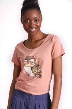 WISE OWL GRAPHIC T-SHIRT R 275.00 - Stretch t-shirt material - Round neckline - Short sleeves - Embellished owl graphic on front Owl Graphic, Wise Owl, Short Sleeves, Neckline, Tees, T Shirt, Clothes, Collection, Women