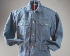 Vintage 1960's  Men's Jean Jacket, Ranchcraft, Vintage Engineer Jacket, Vintage Cowboy Jacket, Vintage mens Jeans
