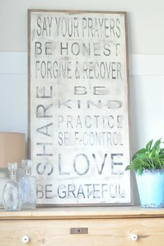 Family Rules Vertical Sign (customizable). $125.00, via Etsy.