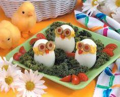 Cute deviled egg chicks