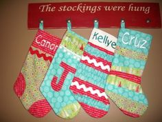 Handmade Christmas Stocking tutorial from Just Sew Sassy Christmas Sewing, Christmas Projects, Handmade Christmas, Holiday Crafts, Holiday Fun, Holiday Ideas, Christmas Ideas, Christmas Decorations, Winter Ideas