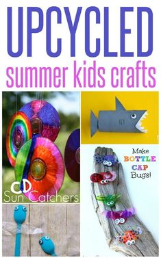 Do It Yourself Pet Property Guidance And Schematic Data Upcycled Summer Kid Crafts Upcycled Crafts, Easy Diy Crafts, Diy Craft Projects, Simple Crafts, Craft Ideas, Diy Ideas, Creative Ideas, Summer Crafts For Kids, Summer Kids