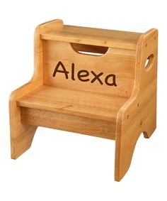 This Natural & Brown Personalized Two-Step Stool by KidKraft is perfect! #zulilyfinds