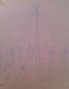 Rough sketch for a new Maypole magazine collage - I'm feeling ambitious! #ecocreatehour