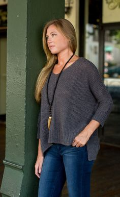 Daydream Believer Sweater - Charcoal