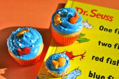 baby boy 1st birthday cupcake ideas | One Fish Two Fish Cupcakes