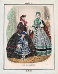 In the Swan's Shadow: Le Follet, October 1861. Civil War Era Fashion Plate