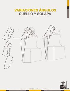 modelist kitapları: Manual-de-Patronaje-Basico-e-Interpretacion-de-Disenos Pattern Making Books, Pattern Books, Sewing Doll Clothes, Sewing Dolls, Tailoring Techniques, Sewing Techniques, Collar Pattern, Jacket Pattern, Clothing Patterns