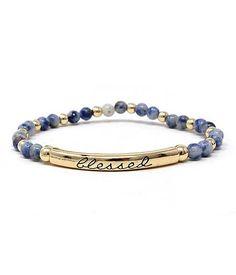 Blessed Marbleized Bead Stretchy Bracelet Arriving Feb 20