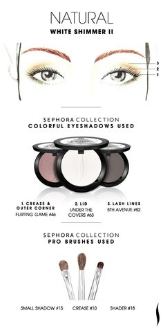 NATURAL: White Shimmer 2 HOW TO. #Sephora #Eyeshadow