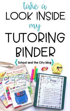 Look Inside My Tutoring Binder - School and the City