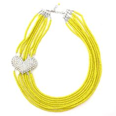 Elva Fields — Leading Lady / July: Bri Emery of Designlovefest Diy Jewelry, Jewelry Necklaces, Beaded Necklace, Jewelry Making, Jewellery, Handmade Jewelry, Yellow Jewelry, New Shop, Accessories