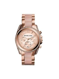 d9a28996425d Michael Kors Blair Blush and Rose-Goldtone Chronograph Watch