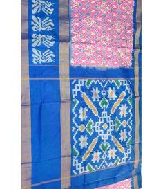 Pink Handloom Ikat Pure Silk Saree