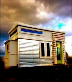 Modern Tiny House For Sale by Gabriella on November 18, 2014 —This modern tiny house for sale is a beautiful example of what can be done in a retrofit. Designed and built by the owner, it contains a lot of features
