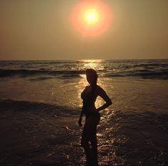 #poser #sunset #love #beach #silouette