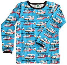 L/s tee - Turquoise rescue vehicles