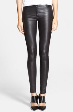 Alice + Olivia Leather Leggings available at #Nordstrom