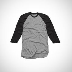 Raglan Black Grey Tee | http://tees.co.id/products/detail/17620?utm_source=pinterest-social&utm_medium=social&utm_campaign=product  #tshirt #shirt #tees