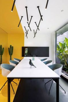 Easy re-create with Trialook. We visualised this meeting room design by @volumezerodesignmagazine. You can too using Trialook in 3 easy steps. It's that simple. See the tile in your space with the Trialook visualiser tool. #trendingdecor #tileideas #tiles #officeroom #table #countertop #granalt #homedecor