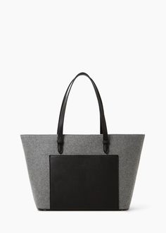 Yünlü shopper çanta -  Kadın | MANGO