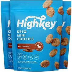 HighKey Keto Snacks Low Carb Snickerdoodle Cookie - Paleo, Diabetic Diet Friendly - Gluten Free, Low Sugar Dessert Treats & Sweets - Ketogenic Products Healthy Protein Cookies (Packaging May Vary) Keto Snacks To Buy, Good Keto Snacks, Healthy Sweet Snacks, Healthy Protein, Gourmet Recipes, Low Carb Recipes, Snack Recipes, Healthy Recipes, Low Sugar Desserts