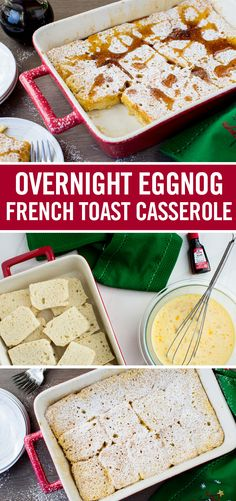 Christmas morning calls for an extra-special breakfast recipe, like this easy Overnight Eggnog French Toast Casserole. Soak fluffy Italian bread in a rich milk-and-egg mixture flavored with vanilla and rum extracts. Add ground nutmeg to re-create that unmistakable eggnog taste. Let it all soak in overnight. Then bake the morning of for a sweet, memorable holiday brunch recipe.