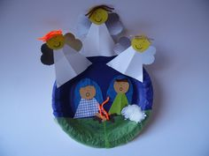 Good site for preschool lesson and craft ideas - angels visit the shepherds Christmas Sunday School Lessons, Toddler Sunday School, Christmas Activities For Kids, Sunday School Crafts, Christmas Angel Crafts, Christmas Paper Plates, Christmas Art, Holiday Crafts, Christmas Bible