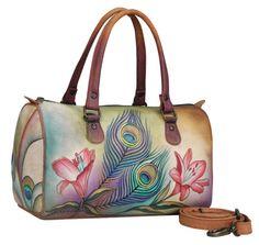 Anuschka peacock handbag