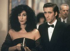 """Cher and Nicholas Cage in """"Moonstruck"""". Wonderful!"""
