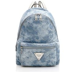 LEEZA JEANS BACKPACK ($165) ❤ liked on Polyvore featuring bags, backpacks, knapsack bags, blue bag, blue backpack, backpacks bags and day pack backpack