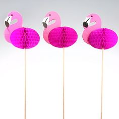 FSC honeycomb paper craft, pink flamingo decorations for party decoration