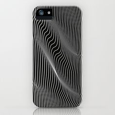 Minimal curves black iPhone & iPod Case by Leandro Pita - $35.00