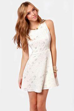 simple little white dress!