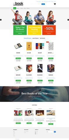 Template 61196 - Ebooks Store  Responsive VirtueMart Template